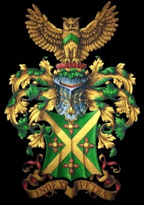 Heraldic arms and crest of Clifford Brunetti