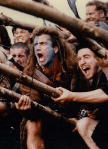 B7NXD1 BRAVEHEART 1995 TCF film with Mel Gibson